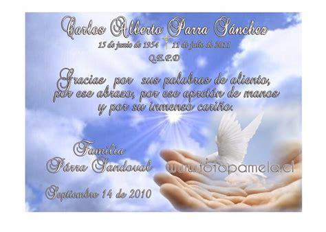 fraces para aniversarios de fallecimiento de un mes tarjetas de condolencia agradecimento recordatorio