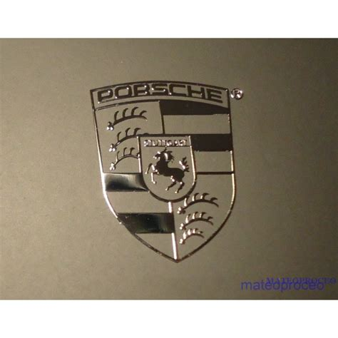 Porsche Aufkleber Emblem by Porsche Label Sticker Badge Logo Metal Chrome