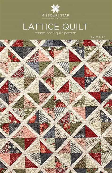 quilt pattern missouri star digital download lattice quilt pattern from missouri