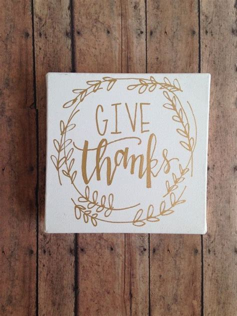 give  canvas gold leaf ink thanksgiving decor hand lettered modern calligraphy