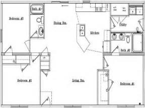 Ranch Home Floor Plans Popular Floor Plans In 60s With Dinning Room Galley Kitchen Floor Plan