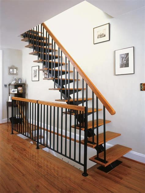 floating metal staircase contemporary floating stair kit