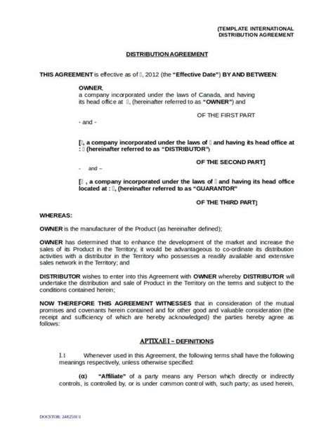 13 Oem Distribution And License Agreement Sles Templates Pdf Word Sle Templates Licensing And Distribution Agreement Template