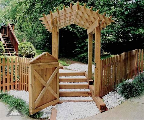 arched arbor pergola picket fence gate fences arbors and
