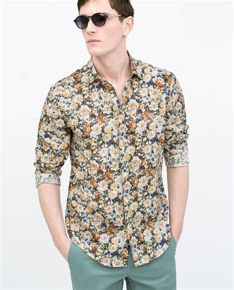 Sleeve Printed Shirt image 2 of printed shirt from zara wedding makeup