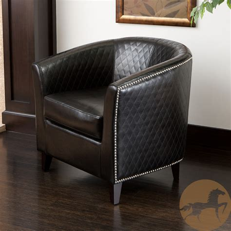 Overstock Leather Chair by Christopher Home Black Bonded Leather Quilted