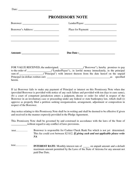 Mortgage Promise Letter Best Photos Of Promissory Contract Template Promise To Pay Letter Template Promissory Note