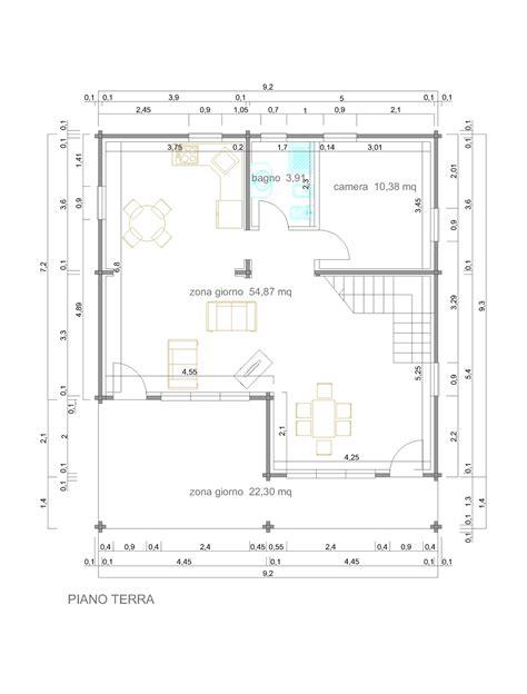progetti di progetti di in legno casa 108 mq terrazza coperta