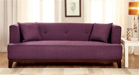 purple sofa website sofia purple sofa from furniture of america cm6761pr sf