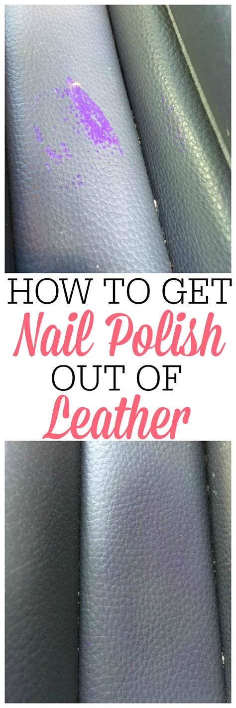 how to get nail out of leather frugally