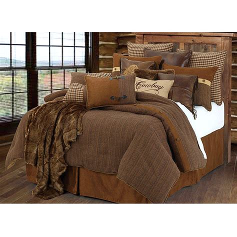 rustic bed sets crestwood cowboy comforter bedding set super king