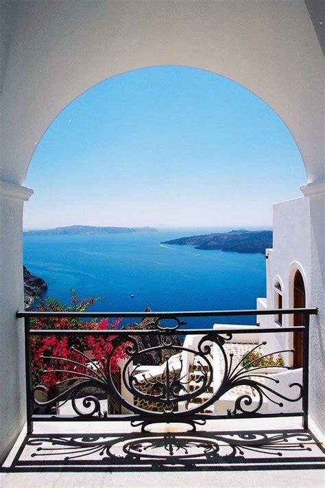 veranda view santorini veranda view to blue fira santorini wander lust