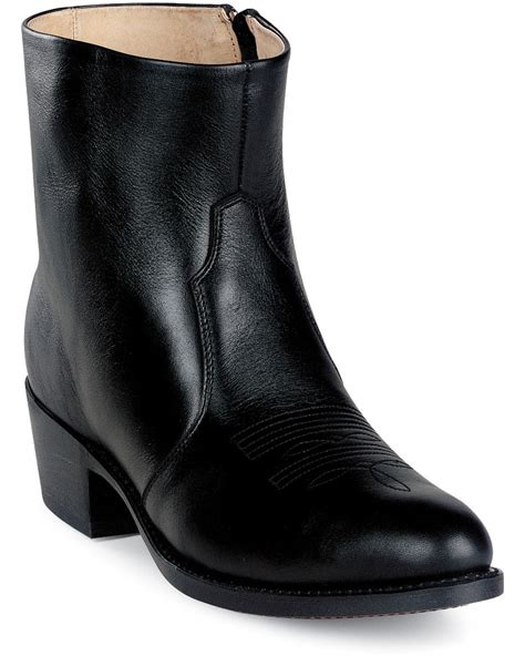 Zipped Bootie boots costume pic mens boots zipper