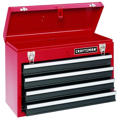sears 4 drawer tool chest craftsman red 4 drawer metal chest big tool storage from