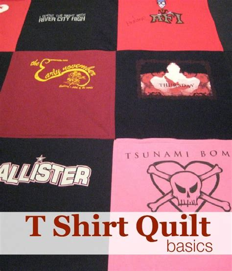 Turning T Shirts Into Quilts by Make A T Shirt Quilt Stitching T Shirts Shirt Quilts