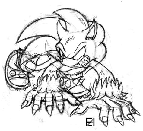 sonic the werehog s free colouring pages