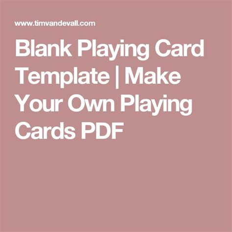Make Your Own Card Template All Cards by 58 Best Images About Crafts On Card Deck
