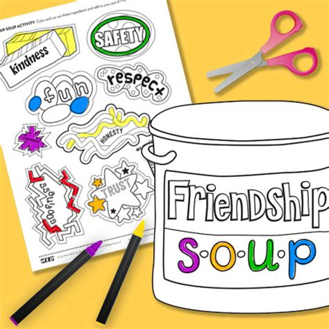 soup template friendship soup activity