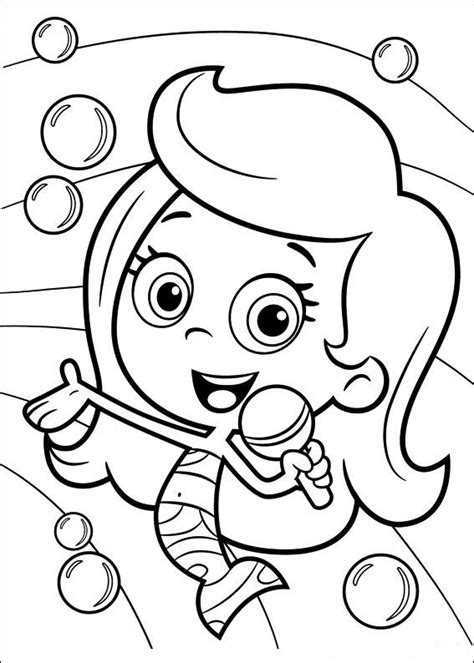 funny deema and nonny from bubble guppies coloring page kids n fun 25 kleurplaten van bubble guppies
