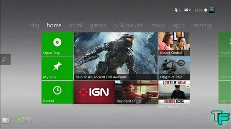 xbox 360 dashboard xbox 360 dashboard update october 2012 review youtube