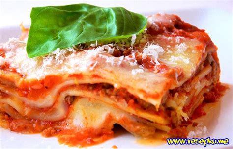 Teflon Eropa resep lasagna kukus istimewa yang mudah dan praktis