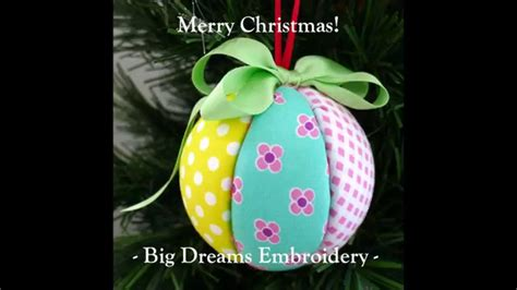 fabric covered styrofoam ball ornaments craft tutorial fabric covered polystyrene balls