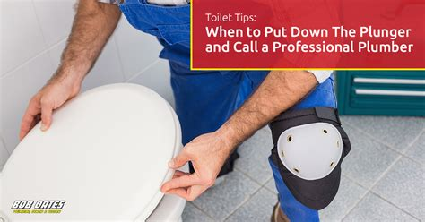 Call A Plumber Toilet Tips When To Put The Plunger And Call A