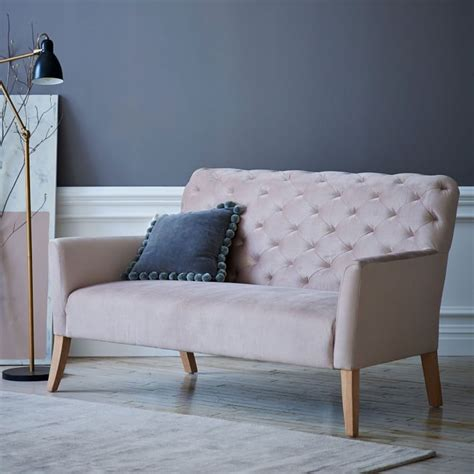 settee west elm pantone s 2016 shade of the yr rose quartz and serenity