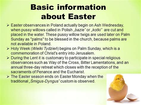facts about easter easter in poland ppt download
