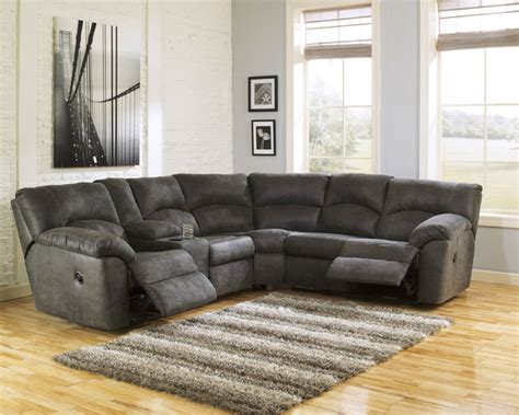 ashley reclining sectional sofas signature design by ashley tambo pewter left and right