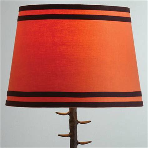 orange table l shade orange double ribbon table l shade eclectic l