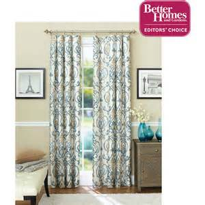 Better Homes Curtains Better Homes And Gardens Ikat Scroll Curtain Panel Decor Walmart