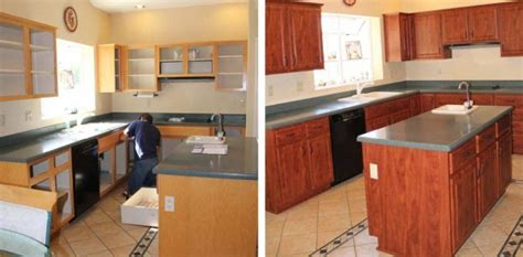 hand made cabinet refacing before and after by hi lo a quick and easy kitchen remodel or custom remodel job