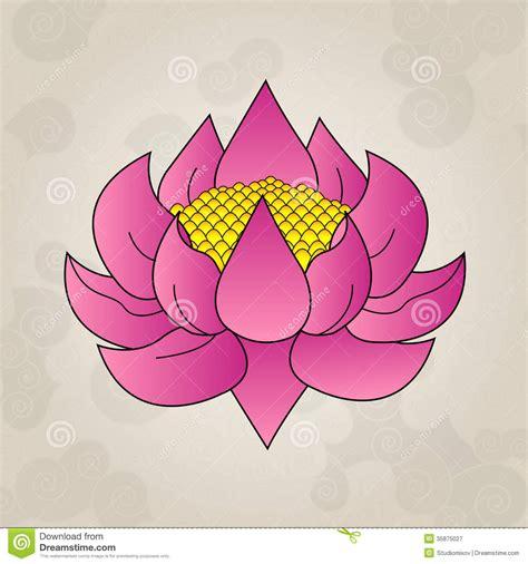 lotus tattoo vector pink lotus japanese tattoo royalty free stock photography