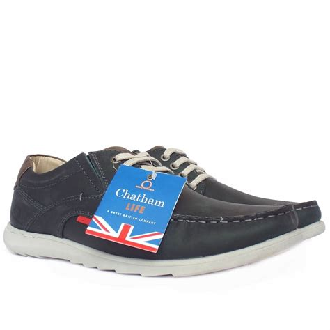 chatham marine streetly grey navy leather s casual