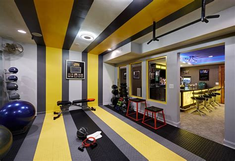 basement gym ideas home gym contemporary with glass wall