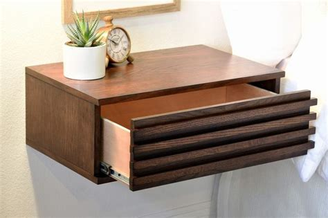 Wall Mounted Nightstand With Drawer by Best 25 Wall Mounted Bedside Table Ideas On