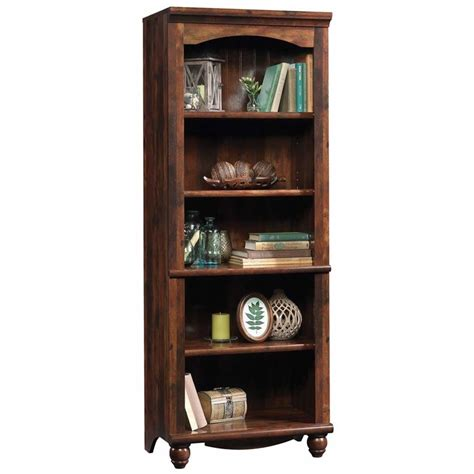 Sauder Harbor View 5 Shelf Bookcase In Curado Cherry 420477 Sauder Bookcase Cherry