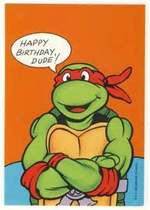 raphael birthday greeting card turtles tmnt