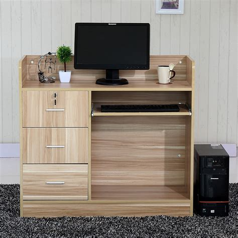 standing reception desk unique design customized size fr mdf pd material salon