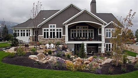 walk out basement future home design pinterest love the big covered porch and the walk out basement and