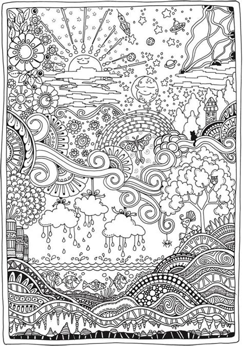 advanced landscape coloring pages 1000 images about coloring on pinterest adult coloring