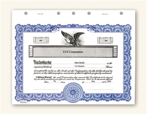 corporate certificate template stock certificate investing made easy