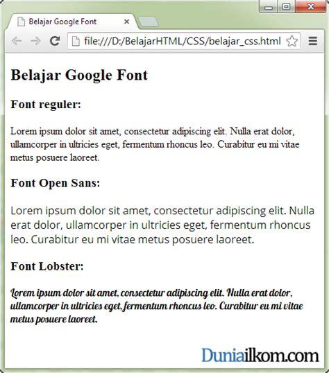 css tutorial google tutorial belajar css cara menggunakan google font