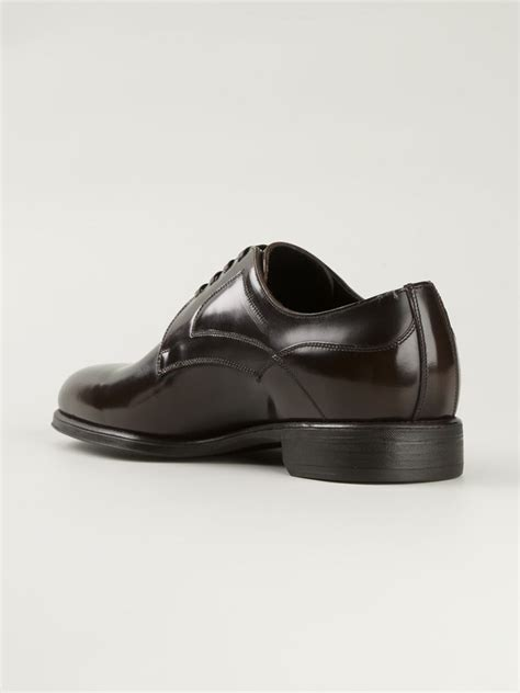 dolce gabbana siena derby shoes in brown for lyst