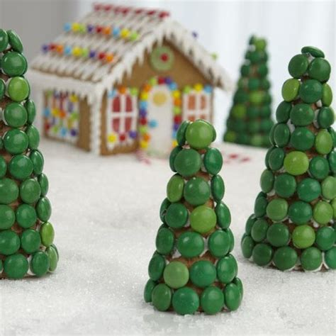ice house cing surround your gingerbread house with sugar ice cream cones decorated with candy coated