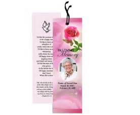 free memorial bookmark template funeral bookmarks printables just b cause
