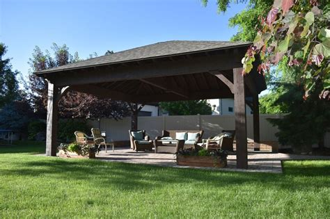 pavillon pergola 22 x24 hip roof pavilion w integrated self contained