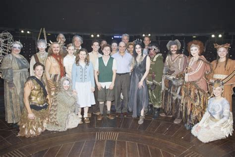 The Witch And The Wardrobe Cast by Photo Flash David Suchet Visits Production Of The