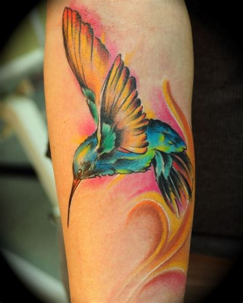 hummingbird with rose tattoos best 25 yellow tattoos ideas on